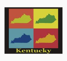 Colorful Kentucky Pop Art Map Kids Clothes