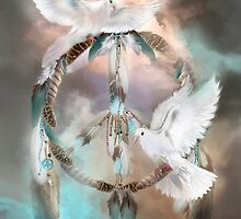 Dream Catcher - Dreams Of Peace by Carol  Cavalaris