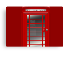 London Red Phone Phone Booth Box  Canvas Print