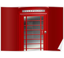 London Red Phone Phone Booth Box  Poster
