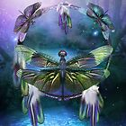 Dream Catcher - Spirit Of The Dragonfly by Carol  Cavalaris