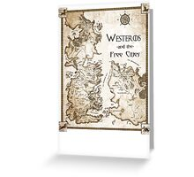 Westeros and the Free Cities Greeting Card