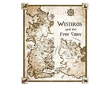 Westeros and the Free Cities Photographic Print