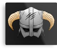 Skyrim Helmet Metal Print