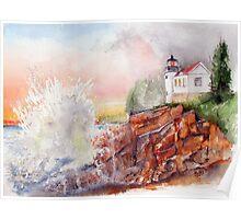 BASS HARBOR LIGHT -  Acadia National Park, Maine Poster