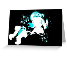 Championship Thresh Crystals Black Greeting Card