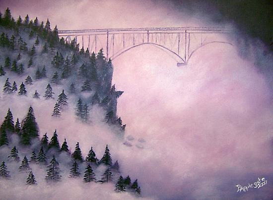 Deception Pass, Washington ~ Oil Painting by Barbara Applegate