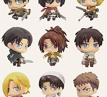 Attack On Titan: Chibi Characters by unprecented