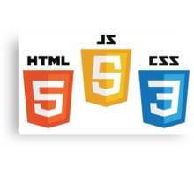 Web Logos Canvas Print