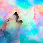 Breathing Dreams Like Air (Wolf Howl Abstract I: Mint) by soaringanchor