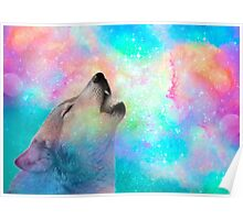 Breathing Dreams Like Air (Wolf Howl Abstract I: Mint) Poster
