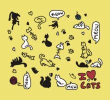 I Heart Cats Kids Clothes