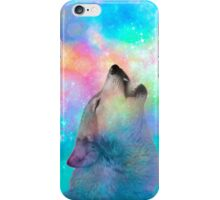Breathing Dreams Like Air (Wolf Howl Abstract I: Mint) iPhone Case/Skin