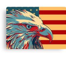 American Patriotic Eagle  Canvas Print