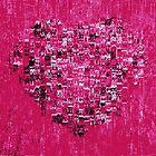 pink heart by Fiona Gardner