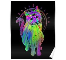 Psychic Psychedelic Cat Poster