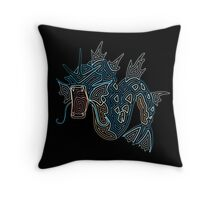 Ornate Gyarados Throw Pillow