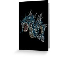 Ornate Gyarados Greeting Card
