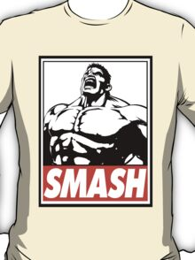 Hulk Smash Obey Design T-Shirt