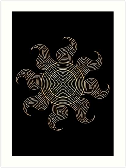 Ornate Celestia Cutie Mark by Colossal