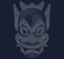 Ornate Blue Spirit Mask by Colossal