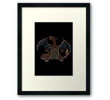 Ornate Charizard Framed Print