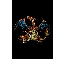 Charizard Splatter Photographic Print