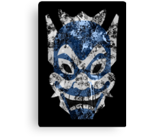 Blue Spirit Splatter Canvas Print