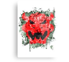 Bowser Emblem Splatter Metal Print
