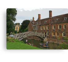Mathematical Bridge, Cambridge Canvas Print
