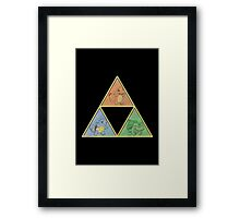Pokemon Triforce Framed Print