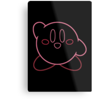 Minimalist Kirby With Face Metal Print