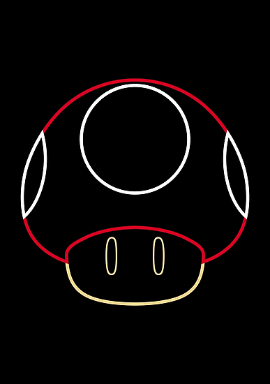 More Minimalist Mario Mushroom by Colossal