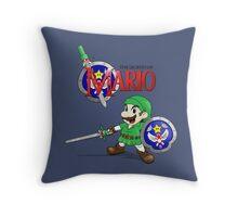 The Legend of Mario Throw Pillow