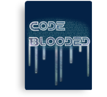 Code Bleed Canvas Print