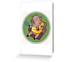 The Sports Pig Greeting Card