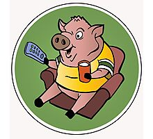 The Sports Pig Photographic Print