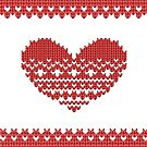 Red Knitted Look Love Heart Style iPhone  Case /  / Pillow / Tote Bag / Samsung Galaxy Case / Duvet by CroDesign