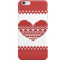 Red Knitted Look Love Heart Style iPhone  Case /  / Pillow / Tote Bag / Samsung Galaxy Case / Duvet iPhone Case/Skin
