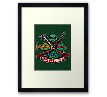 Turtle Power! Framed Print