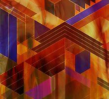 Wrightian Reflections (Square Version) - By John Robert Beck by studiobprints