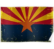 Arizona State Flag VINTAGE Poster