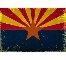 Arizona State Flag VINTAGE Photographic Print