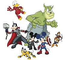 Earth's Mightiest Heroes Photographic Print