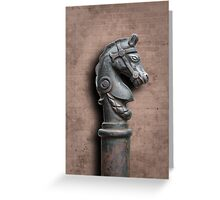 Horse Head Hitching Post Greeting Card