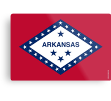 Arkansas State Flag Metal Print