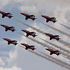 Red Arrows Aviation display team by wjohnd