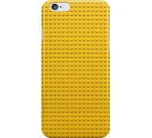 Building Block Brick Texture - Yellow iPhone Case/Skin