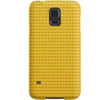 Building Block Brick Texture - Yellow Samsung Galaxy Case/Skin