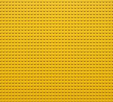 Building Block Brick Texture - Yellow by graphix